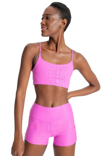 Top Body Curve LIVE! Essential Cyber Pink Academia Fitness