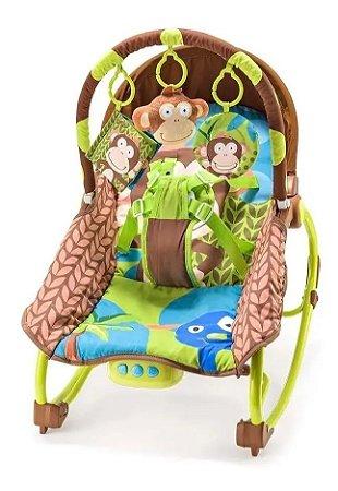 Cadeira De Balanço Para Bebês Macaco BB365 Multikids