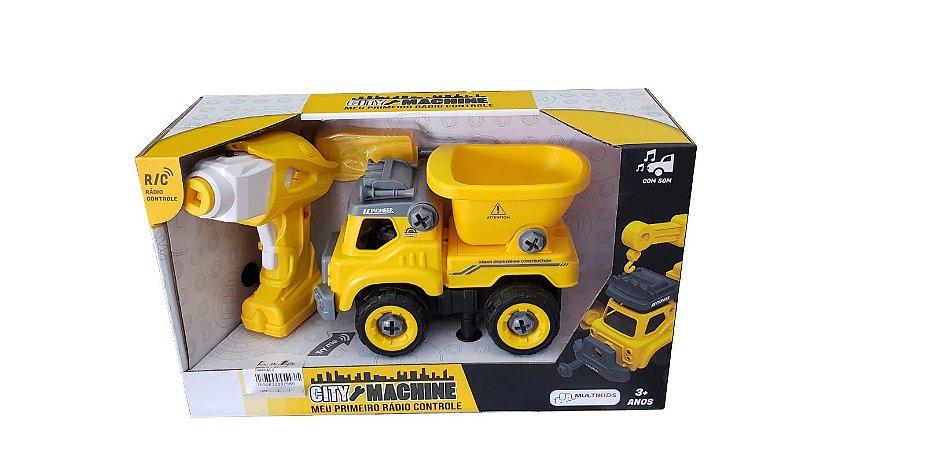 Caminhão Construção Desmontável Controle Remoto Multikids