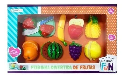 Frutinhas Com Velcro Para Cortar 8pçs MultiKids BR1112