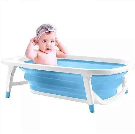 Banheira Dobrável Flexi Bath Azul Multikids - Bb172