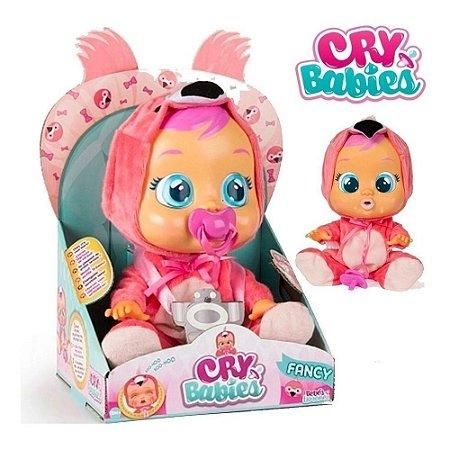 Boneca CryBabies Fancy com Chupeta