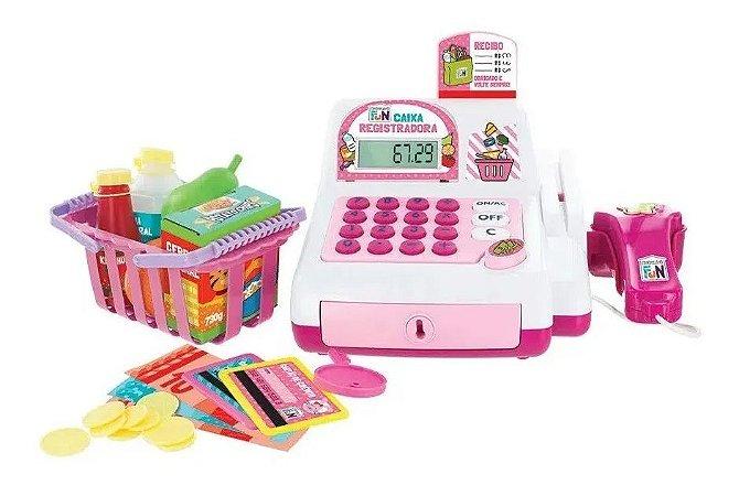 Caixa Registradora Brinquedo Rosa Infantil - Multikids