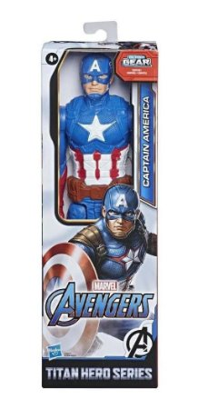 Boneco Capitão América Marvel Titan Hero Series - Hasbro