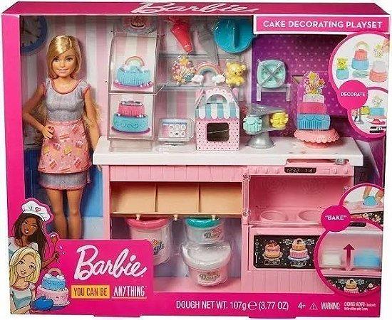 Barbie Cozinha Chef Dos Bolinhos Doces 30 Cm GFP59 Mattel