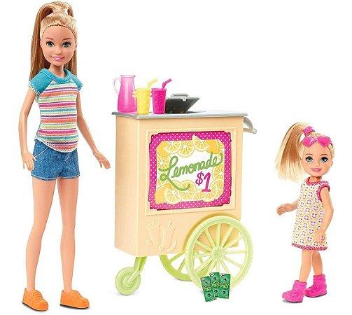 Boneca Barbie Stacie Chelsea Stand De Limonada Mattel Ght07