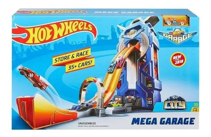 Pista De Percurso Hot Wheels - Mega Garage - Mattel Ftb68