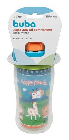 Copo C/ Canudo E Tampa 320ml Happy Friends - Buba