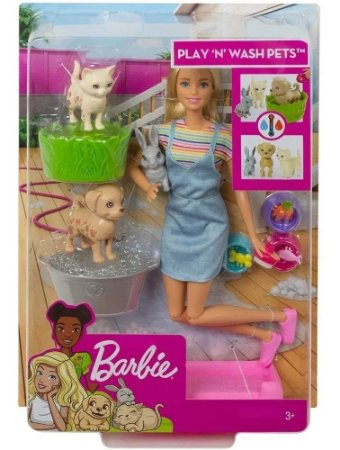 Boneca Barbie Banho De Cachorrinho Mattel FXH11