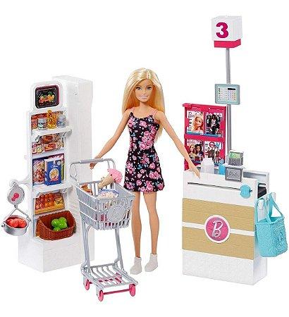 Boneca Barbie - Supermercado De Luxo +25 Peças Mattel Frp01