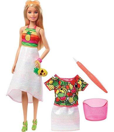 Barbie Crayola - Boneca Frutas Surpresa Gbk18