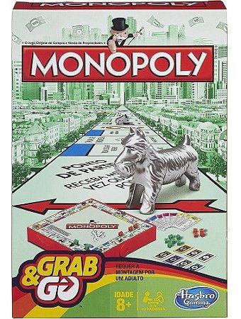 Jogo Monopoly Grab & Go Tabuleiro B1002