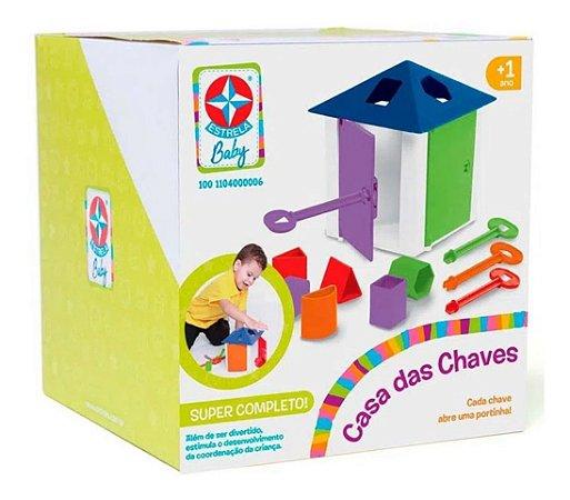 Jogo Educativo Infantil Didático Casa Das Chaves Estrela