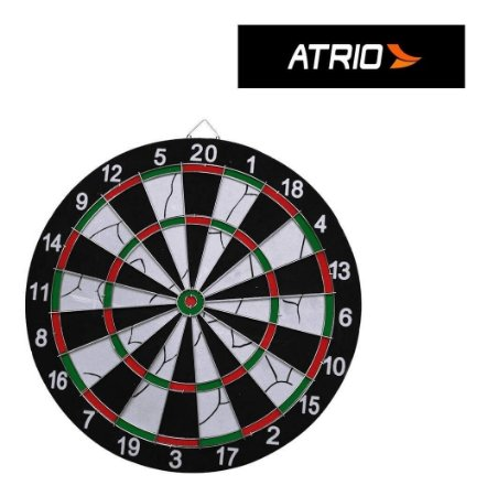 Jogo De Dardos Com Alvo De 42cm De Diâmetro + 6 Dardos Atrio