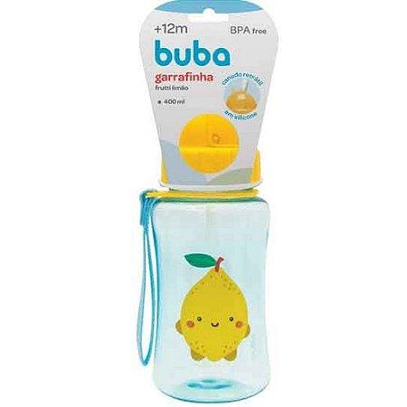 Garrafinha com Canudo Frutti Limão 400ml - Buba
