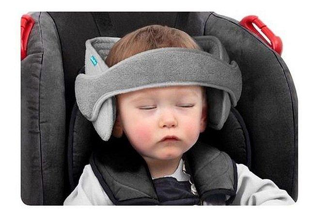 Apoio De Cabeça Para Bebê Assento De Carro Buba Baby Grafite