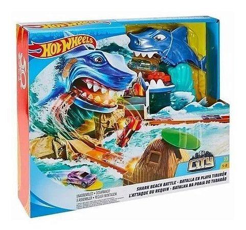 Pista Hotwheels - Pista Ataque Do Tubarão - Mattel
