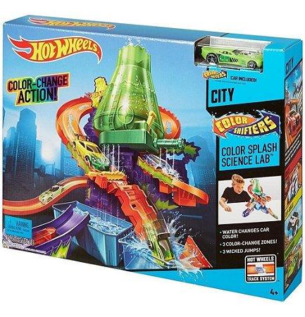 Pista Hot Wheels Color Estação Científica Mattel