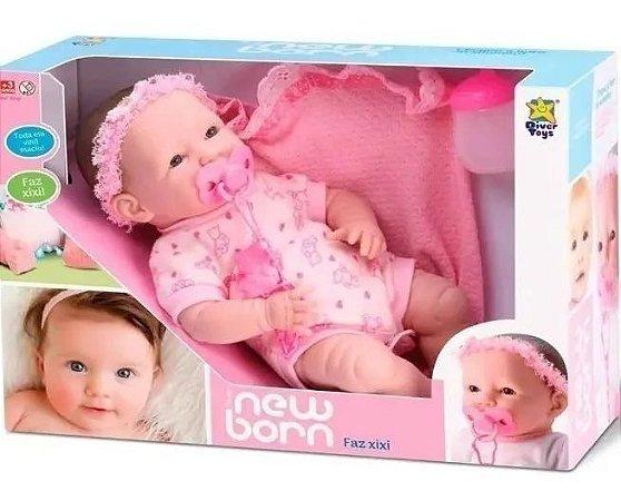Boneca 36cm Menina Newreborn Faz Xixi Reborn
