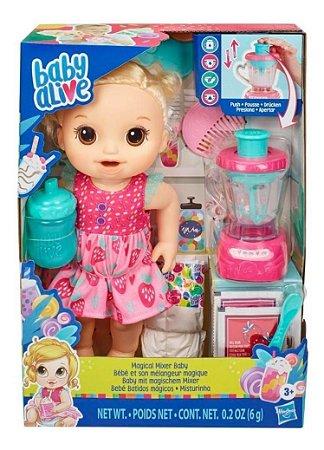Boneca Baby Alive Loira Misturinha Vitam De Diversão Hasbro