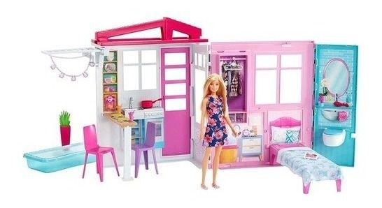 Casa Da Barbie Glamour Com Boneca Completa Original Fxg55