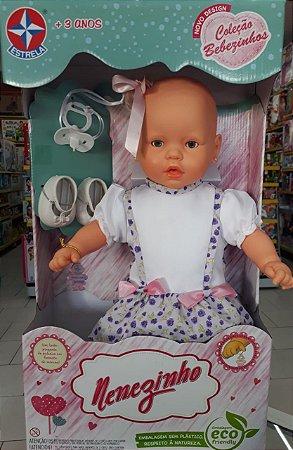 Boneca Nenezinho Vestido Lilas Diverso  44 Cm -estrela