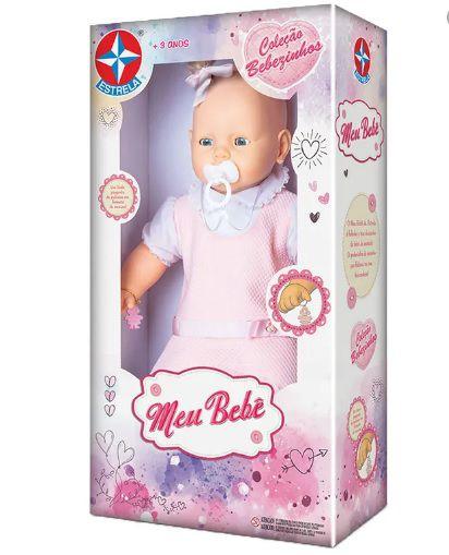 Boneca Bebezinho Vestido Rosa 49 Cm - Estrela