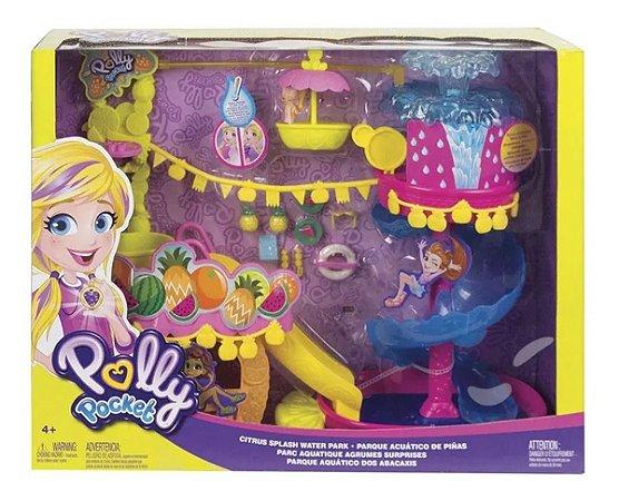 Playset E Boneca Polly Pocket Parque Aquático Abacaxi Mattel
