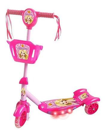 Patinete Belinda 3 Rodas C/ Cesta Luz e Som DMR5027 DM Toys