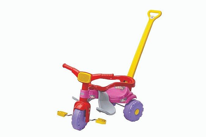 Triciclo Turma Da Mônica C/ Haste E Aro 2563 - Magic Toys