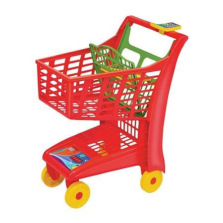 Carrinho Supermercado Infantil Market Vermelho Magic Toys