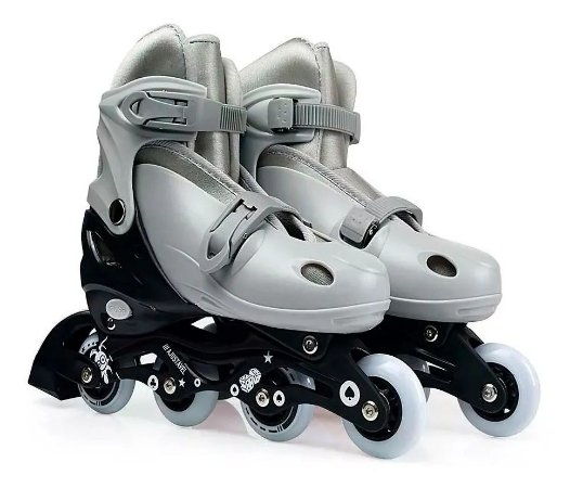 Patins Roller Infantil Cinza Tam M 34-37 9175 Mor