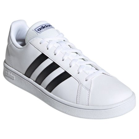 Tênis Adulto Grand Court 38-43 Branco e Preto Adidas Unissex