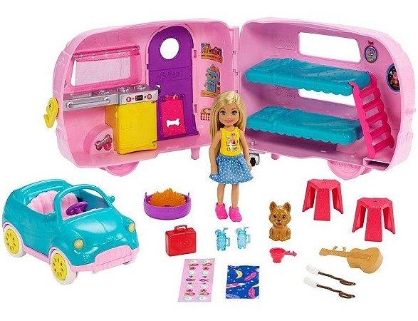 Boneca Barbie Acampamento Trailer Da Chelsea Fxg90 - Mattel