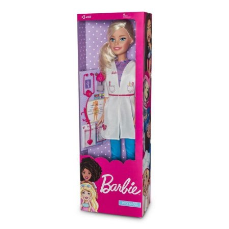 Boneca Barbie 65cm Médica 1276 Pupee
