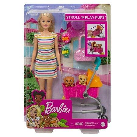 Barbie Carrinho De Cachorrinhos GHV92 Mattel