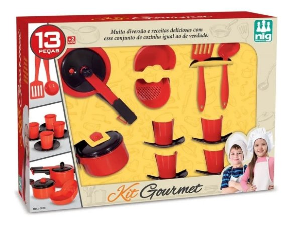 Kit Gourmet Panelinhas Infantil 13 pçs 0618 Nig
