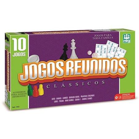 10 Jogos em 1 Clássicos Reunidos 1163 Nig Brinquedos