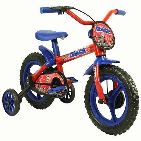 Bicicleta Azul/vermelho Arco Iris Infantil Aro 12 Track