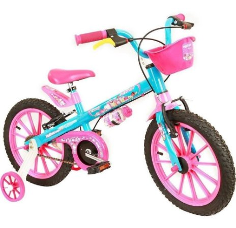 Bicicleta Aro 16 Candy Rosa Menina Nathor