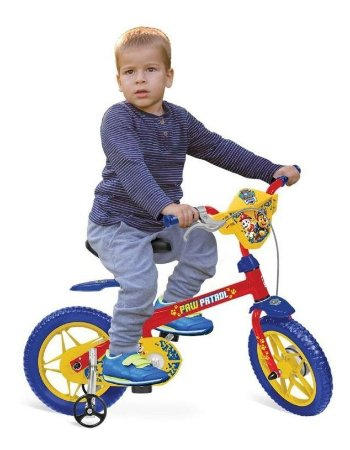 Bicicleta Aro 12 Patrulha Canina Bandeirantes