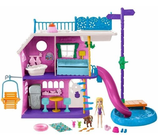 Polly Pocket Casa Do Lago Da Polly Mattel Ghy65
