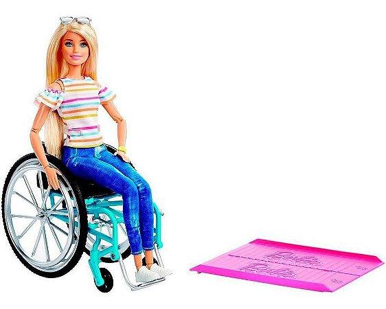 Barbie Fashionistas Loira Cadeira De Rodas GGL22 Mattel