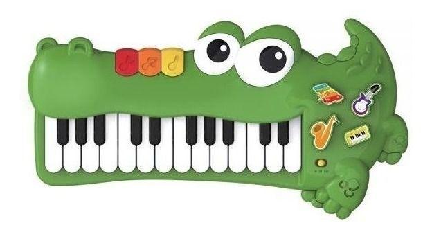 Teclado Divertido Jacaré Baby Musical DMB5814 Guta Guti