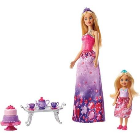 Boneca Barbie DreamTopia Chelsea Hora Chá FPL88 Mattel
