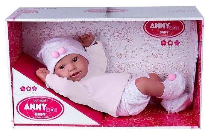 Boneca Anny Doll Baby Menina Reborn Shorts Blusa - Cotiplás