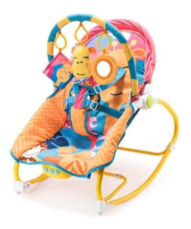 Cadeirinha Bebê Reclinável Girafa C/Musica Multikids