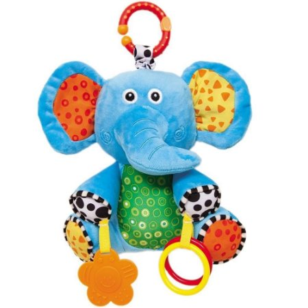 Elefantinho Atividades com Chocalho e Mordedor para Nenê e B
