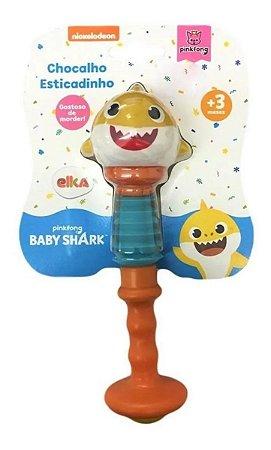 Chocalho E Mordedor Esticadinho Baby Shark Elka Brinquedos