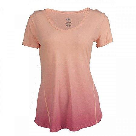 Camiseta Feminina Skin Fit Degradê Alto Giro